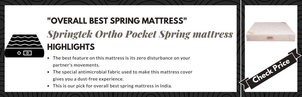Overall best spring mattress in India
